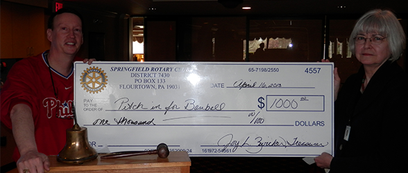 Springfield Rotary Club Gives Major Donations