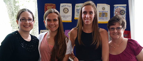 Interact Clubs Changeover at Recent Springfield Twp. Rotary Club Meeting