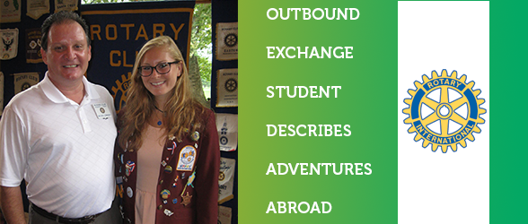 Outbound Exchange Student, Springfield Resident Jenny Lukoff Speaks to Rotary Club