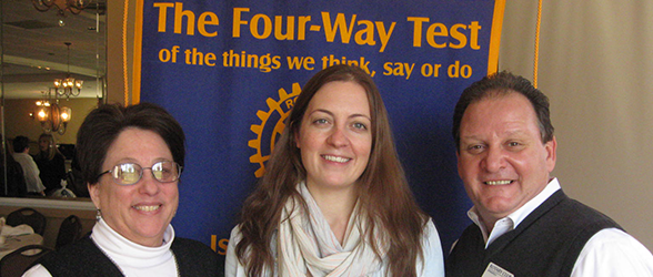 Rotary Club Welcomes New Member and Interact Leaders