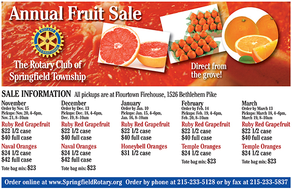 Our Annual Fruit Sale is Back!