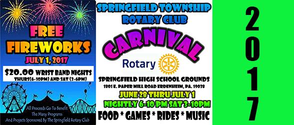 2017 Rotary Carnival Returns June 28 – July 1